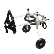 Stainless Steel Cart Pet/Dog Wheelchair for Handicapped Large Size Dog Sliver