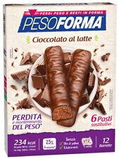 Pesoforma - 12 Barrette Cioccolato al Latte - 6 Pasti Sostitutivi 234 kcal
