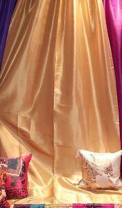 Wedding drapes Honey Gold taffeta, wall covering, backdrop, Moroccan, Bollywood.