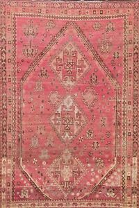 Antique Geometric Traditional Oriental Area Rug Wool Hand-knotted Carpet 5x8 ft
