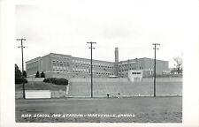 Marysville Kansas~High School & Football Stadium~Track Runners RPPC c1950
