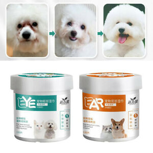 260pc Presoaked Dog Ear Eye Wipes Puppy Cats Pet Puppies Tear Stain Remover Pads