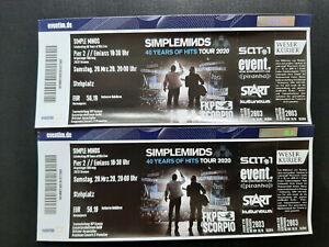 2 x Simple Minds Tickets im Pier 2 in Bremen zum Ersatztermin am 22.03.2022