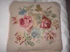 Ralph Lauren Highfields or Villandry Needlepoint 14 x14 Square Throw Pillow New