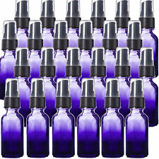 1oz Purple Shaded Glass Bottles with Black Fine Mist Spray Tops Pack of 24, New