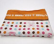 Paul Frank Rainbow Dot Julius Monkey Twin FLAT Sheet Material Fabric RARE