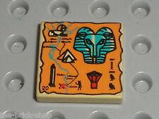 LEGO Egypte Tan Tile with Hieroglyphs ref 3068bpx21 / Set 5928 5978 2995 5958...