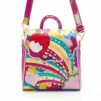 NEW IRREGULAR CHOICE *RAINBOW SPLASH* HANDBAG - PINK (A)