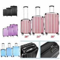 """28"""" Large Super Lightweight ABS Hard Shell Travel Hold Check In Luggage Suitcase"""