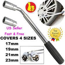 FOR Car Van Brace Extendable Wheel Socket Tyre Lug Nut Wrench 17mm 19mm 21mm 23