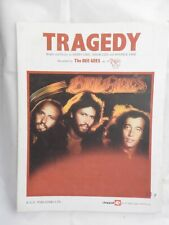 Bee Gees - Tragedy    single sheet music piano vocal