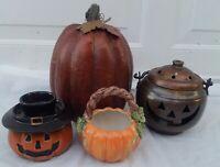 Halloween Pumpkins Jack O' Lantern Votives  JUNK DRAWER COLLECTION JOL