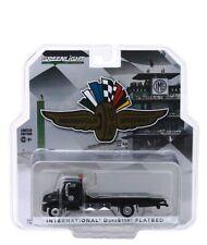 Greenlight 1/64 International Durastar Flatbed Tow Truck Black Diecast 30035