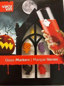 Vacu Vin HALLOWEEN Glass Markers Set of 13 NIB