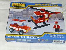 BEST-LOCK,Bausteine,Bausatz,Feuerwehr,Auto,Hubschrauber,Spielzeugauto,Spielzeug