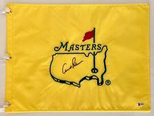 Arnold Palmer signed Masters flag undated pga golf augusta national beckett loa