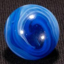 """BEAUTIFUL MFC Blue TRANSITIONAL SLAG Vintage Marble, .67"""", MINT , hawkeyespicks"""