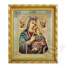 Ikone Mutter von Immerwährenden Hilfe Holz 21x18 Страстная Всепомогающая  икона
