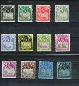 ASCENSION - 1924/1933 KGV SG10/20 FINE LIGHTLY HINGED MINT SET