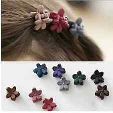 10Pcs Flower Acrylic Hair Claws Solid for Children