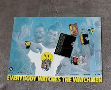 Watchmen 1988 Rorschach Comedian RARE DC Comics Merchandise PROMO Poster VF