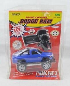 Nikko Dodge Ram Blue Truck Radio Remote Control Vehicle 1/24 Scale #24910