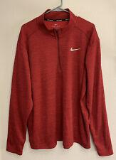 Nike Dri Fit 2Xl Long Sleeve Running Shirt Red Nwot