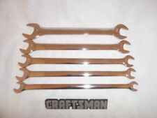 Craftsman 5pc SAE Polished Tappet Wrench Set Tools Wrenches INCH Thin Open End