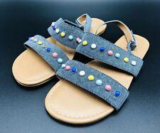 Harper Canyon Girls' Flat Sandal Blue Size 4
