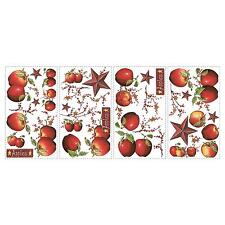 COUNTRY APPLES wall stickers 40 BIG decals COUNTRY STARS BERRY VINE scrapbooking