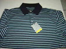 MENS GREG NORMAN NAVY-LT BLUE PLAY DRY S/S POLO SHIRT SIZE L  $84