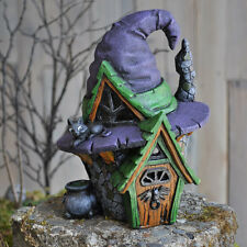 "Halloween Fairy Garden Witch Hat Fairy House  8.5"""