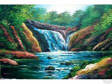 Twin Falls 24x36 Art Philippines Oil Painting