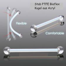 Bauchnabelpiercing 1,6 mm 25 mm Schwangerschaft Stab Bioflex PTFE - Kugel Acryl
