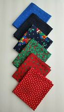 Christmas Quilting Fabric 6 Fat Quarters Beautiful Colors