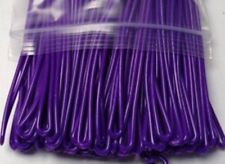 "Loops For Luggage Tag or ID Badge 6"" Purple 10 pk Great for Laminating Pouches"