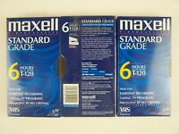 MAXELL Standard Grade T-120 VHS Video Cassette New Factory Sealed 3 Tape Lot