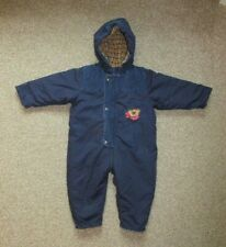 BABY BOYS NAVY BLUE WINTER SNOWSUIT. AGE 6-12 MONTHS. MOTHERCARE ALL IN ONE