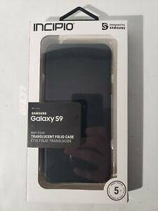 Incipio SA-924-SMK NGP FOLIO Case (Translucent Folio) for Samsung Galaxy S9  NEW