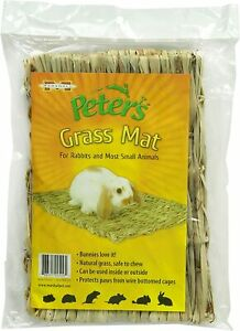 """Marshalls Pet Peter's Grass Woven Mat for small animals rabbits 18x10"""" chew"""