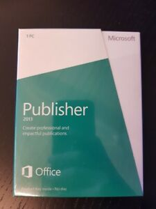 NEW Microsoft Publisher 2013 PKC | 164-06987