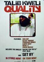 Talib Kweli 2003 Quality BIG promotional poster Flawless New Old Stock Kanye