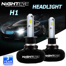 NIGHTEYE H1 50W LED Headlight Kit Light Bulbs Replace Xenon Halogen 6500K White