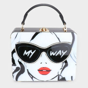 Designer Inspired My Way Bling Sunglasses Woman Rectangle Tote Bag