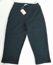 NEW NWT Womens SPORTWORKS STUDIO Black Capri Pants Medium Viscose Elite $275 S1