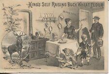 Antique Trade Card Kings Self Raising Buck Wheat Flour