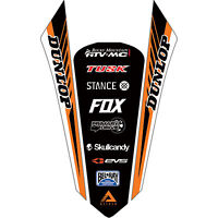 Attack Graphics Turbine Rear Fender Decal Orange for KTM 200 XC 2006-2007
