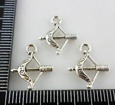 40pcs Tibetan silver Bow and Arrow Charms Pendants 8.5x16mm (Lead-free)