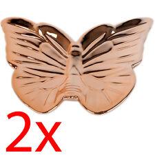 SET OF 2 BUTTERFLY TRINKET TRAY BOX JEWELLERY COPPER DISH GIFT MAKE UP DESK NEW