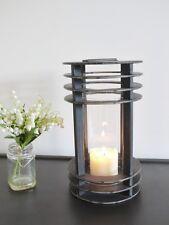 Stunning Vintage Industrial Garden Candle Hurricane Lantern Lamp Holder 4105
